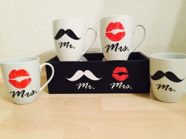 Mr & Mrs set Tassen